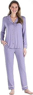 bSoft Women's Bamboo 2-Piece Long Sleeve Button-Down Pajama Lounger Set