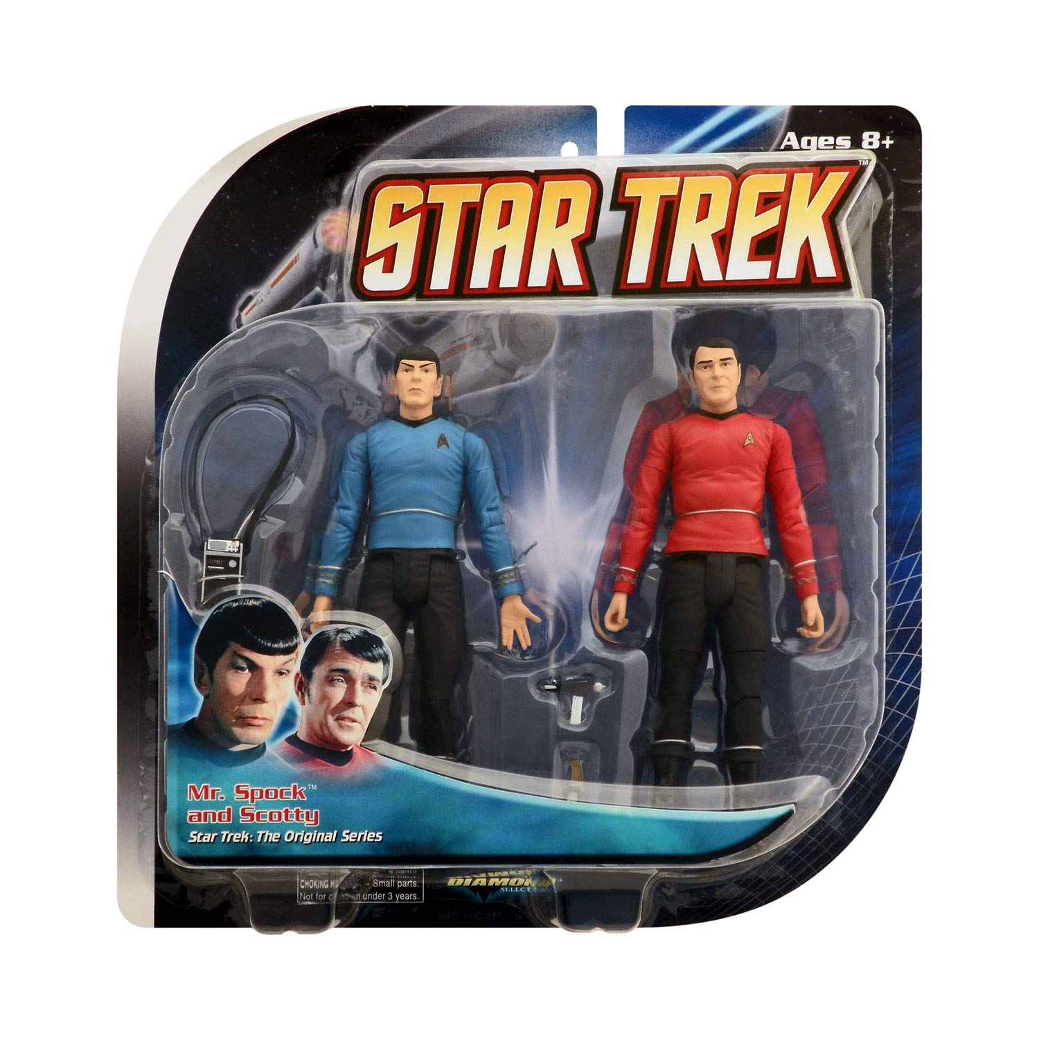 STAR TREK Figure 2 Pack - Spock & Scotty: Amazon.es: Juguetes y juegos
