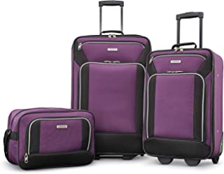 Fieldbrook XLT Softside Upright Luggage, Purple/Black,...