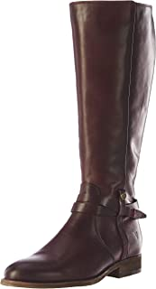 FRYE Women's Melissa Belted Tall Knee High Boot, Plum, 6.5 M US