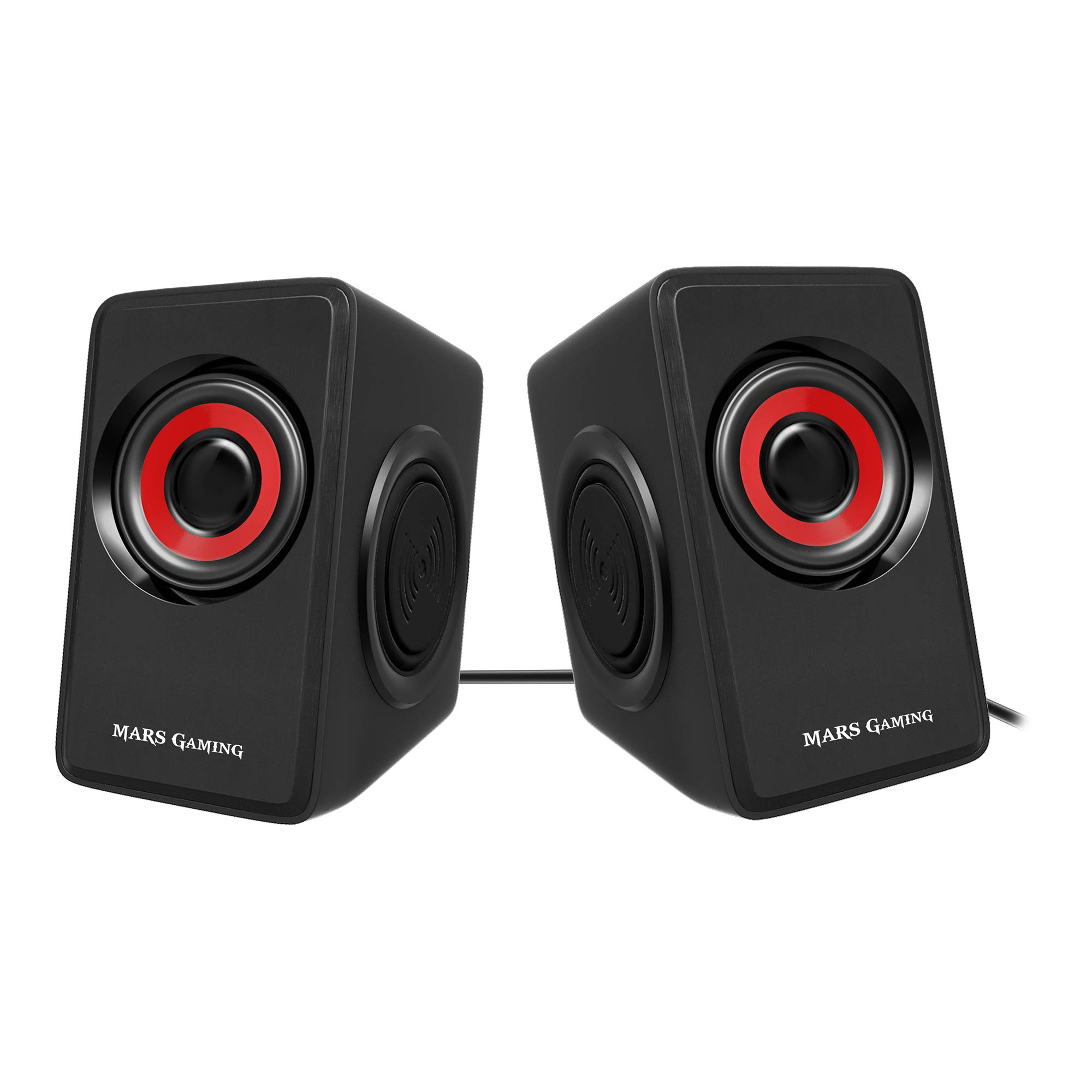 Mars Gaming MS1, altavoces 10W, subwoofer, Jack 3.5mm, Pc/Mac ...