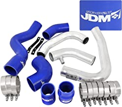 AJP Distributors For Audi A4 B6 1.8L 20V Turbo Charger Aluminum Intercooler Piping Kit With Blue Couplers Performance Upgrade