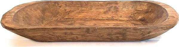 Decorative Wood Dough Bowl Farmhouse Rustic Bowl The Weston