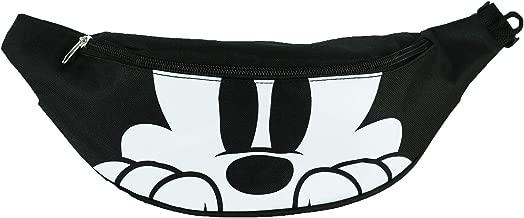 Disney Mickey Mouse Double Pocket Waist Pack, Black