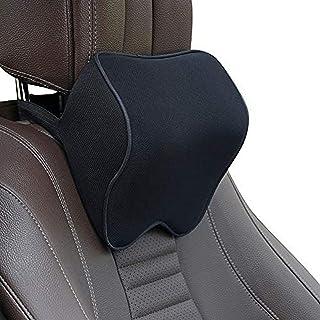 QDY nackkuddar för bilar, nackstödsdyna med avtagbart säkerhetsbälte, minneskum, passande resor/kontor/hem/bil - nackskydd...