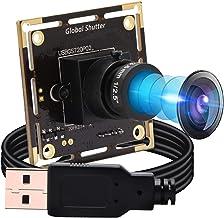 USB Camera Module HD 1280X720@60fps, USB Webcam Global Shutter with AR0144 Image Sensor,Tiny USB Cameras with 3.6mm Lens I...