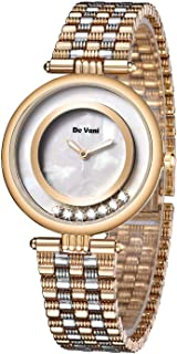Women Dress Watch by De Vani, Analog, Stainless Steel
