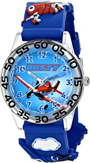 Disney Boys' Planes 3D Plastic Blue Time Teacher Watch