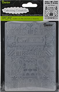 "Darice - Embossing Folders - 4.25""x5.75"" - Birthday Collage"