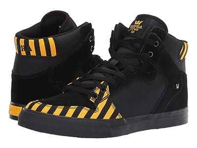 Supra Vaider (Caution/Black/Black) Skate Shoes