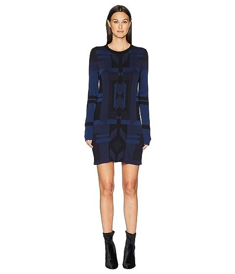 Neil Barrett Deco Design Tech Yarn Dress