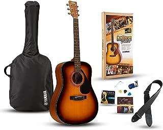 Yamaha Gigmaker Standard Acoustic Guitar w/ Gig Bag, Tuner, Instructional DVD, Strap, Strings, and Picks - Sunburst