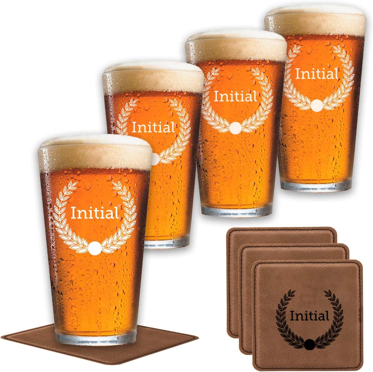 SALENEW very Al sold out. popular Pint Set of 4 Customize Coasters +