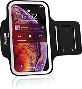 RevereSport iPhone XR Armband. Sports Phone Case Holder for Running, Gym Workouts