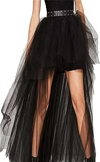 HAOYIHUI Women's Sexy Mesh High Waist Pleated Fluffy Cover Up Skirt
