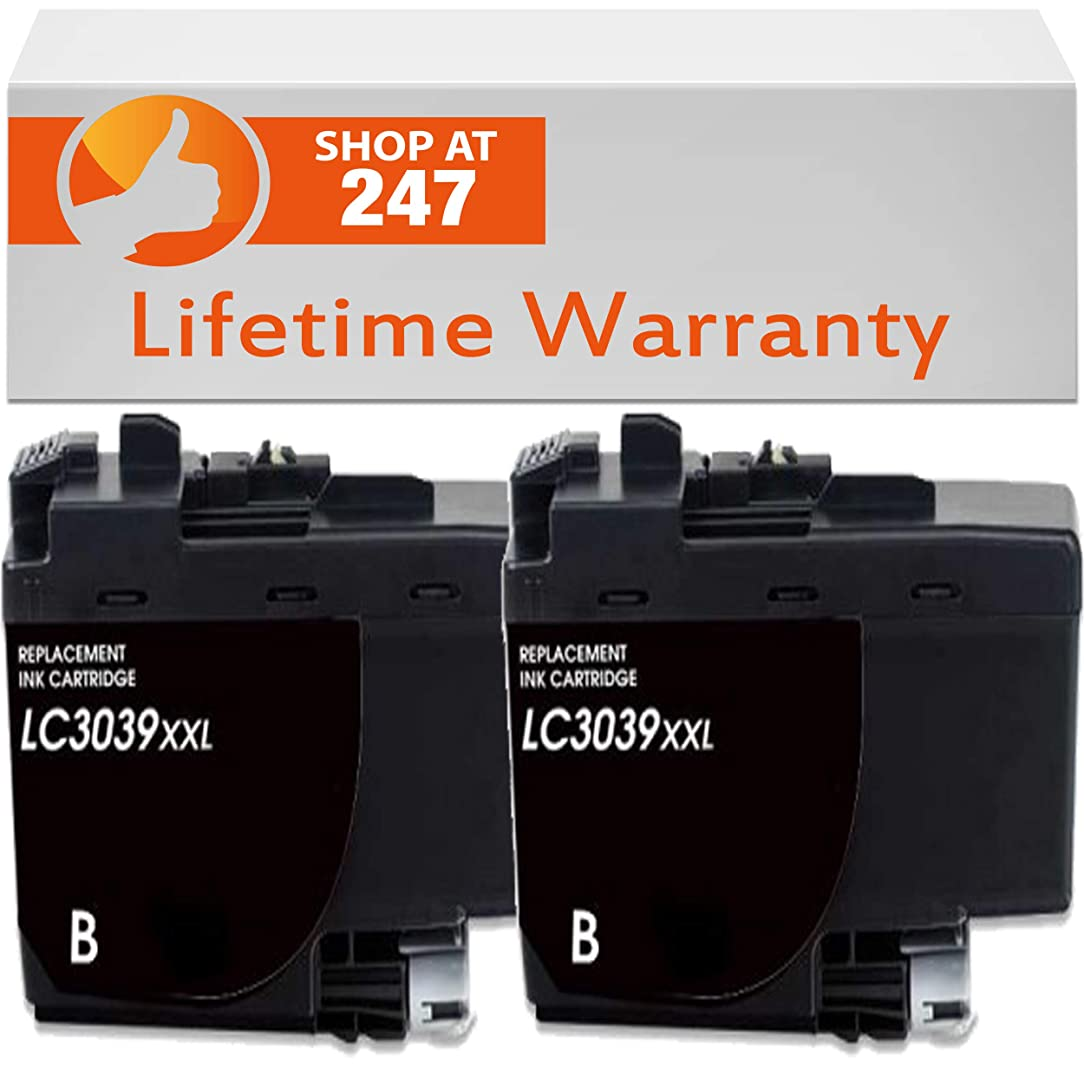 Shop247 Compatible Ink Cartridge Replacement for Brother LC3039 LC3039 XXL MFC-J5845DW, MFC-J5845DW XL,MFC-J5945DW, MFC-J6545DW, MFC-J6545DW XL and MFC-J6945DW (Black 2-Pack)