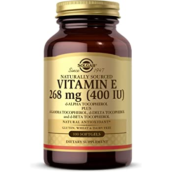Solgar Vitamin E 268 MG (400 IU) Mixed (d-Alpha Tocopherol & Mixed Tocopherols), 100 Softgels - Supports Immune System & Skin Nutrition - Natural Antioxidant - Gluten Free, Dairy Free - 100 Servings