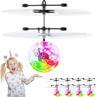 4 Packs Flying Ball Toys Rechargeable Light Induction Ball Helicopter Play Indoor and Outdoor for Boys Girls Gifts