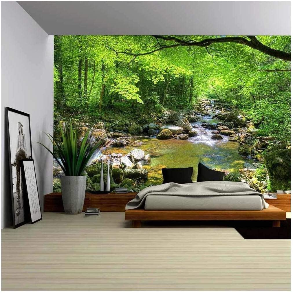 wall26 Courier shipping free - Fall Forest Stream Primorye Tucson Mall Russian Smolny Reserve in