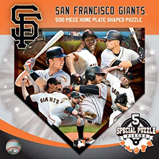 MasterPieces San Francisco Giants Home Plate Shaped 500 pc Puzzle