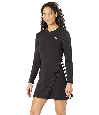 adidas Originals Bellista Long Sleeve Dress (Black) Women