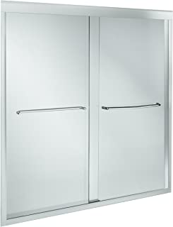 KOHLER K-702205-L-SHP Fluence 3/8-Inch Thick Glass Bypass Bath Door, Bright Polished Silver