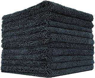The Rag Company (10枚入りパック)約 40.6 x 40.6 cm(16 x 16インチ)プロフェッショナル エッジレス 70/30 ブレンド 420GSM デュアルパイル プラッシュ マイクロファイバー オートディテーリング...