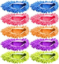 BACKK 5 Pairs (10 Pieces) Multi-Function Dust Duster Mop Slippers Shoes Cover, Soft Washable Reusable Microfiber Foot Sock...