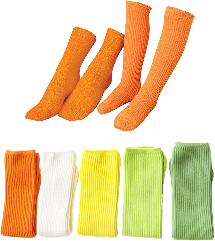J Poqobog Girls Knee High Long Socks womens ankle Socks Couple&Family
