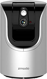 Zmodo ZH-IZV15-WAC Smart Pan Tilt WiFi Camera with 360-degree Monitoring, Two-Way Audio, IR Night Vision, microSD Card Supported and Smart Motion Alerts