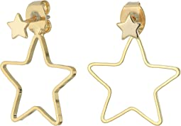 Open Star Jacket Earrings