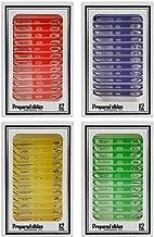 Vishusju Plastic Prepared Microscope Slides (48pcs OR 12pcs) Biological Specimen Kits of Animals Insects Plants Flowers Sample for Kids Student Science Education (48)