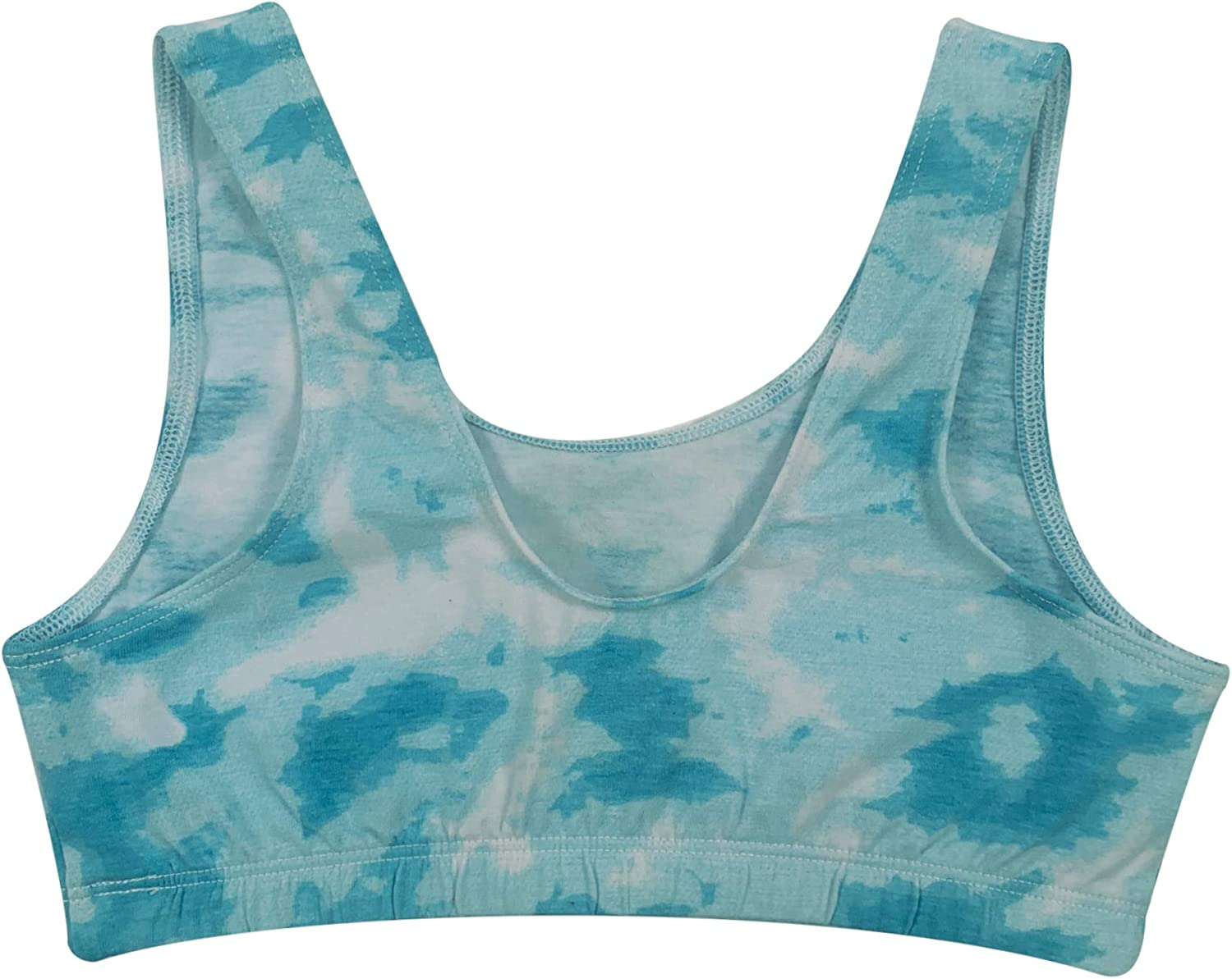 The Popular Store Girl's Cotton Active Tie Dye Sports Bra - 3 Pack