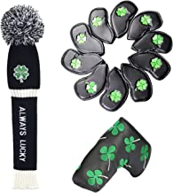 Loxasum Golf headcovers Set for 460cc Driver Wood Putter Irons Head Club Covers for Taylormade Callaway Titleist Ping