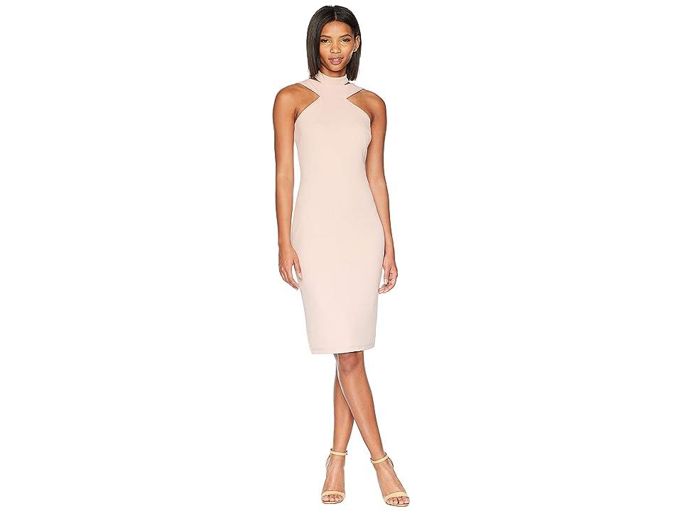 Bebe Bodycon Halter Dress (Blush) Women