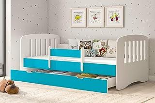 Design alla Moda Letto per Bambini fresatura Cuore Culla per Bambini Design Moderno, Legno di Pino KAGU Candy Dim Interne: 160 x 80 cm Peso Circa 47 kg Letto con Materasso con cassetto