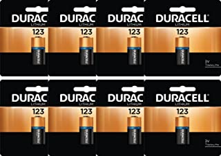 Duracell 8 CR123A Ultra Lithium Batteries DL123A in Original Packaging