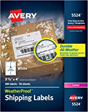 Avery WeatherProof Mailing Labels with TrueBlock Technology for Laser Printers 3-1/3