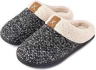 Women's Cozy Memory Foam Slippers Fuzzy Wool-Like Plush...