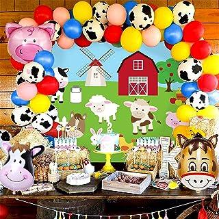 122 PCS Farm Animals Party Supplies Farm Animals Birthday Decoration Farm Animals Birthday Backdrop Farm Animals Party Sup...