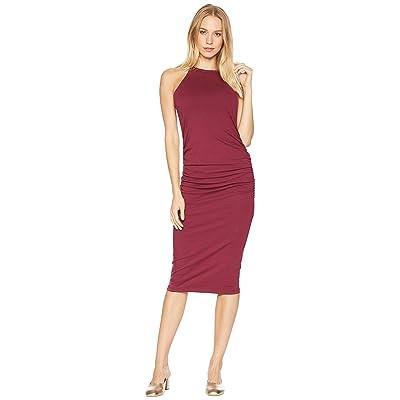 Michael Stars Halter Midi Dress w/ Shirring (Pinot) Women