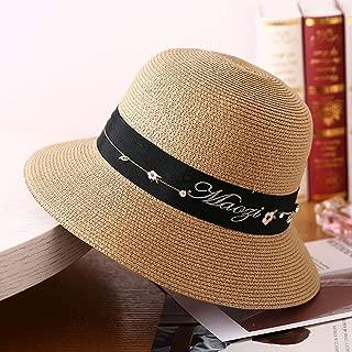 SJZQL Sombrero de Paja Mujer Verano Visera para el Sol Sombrero de Playa al Aire Libre Sombrero de Paja Visera Viajes Plegable Sombrero para el Sol (Tamaño : Style B)