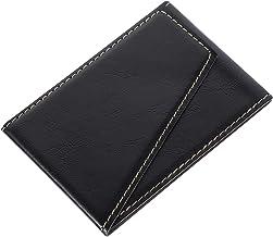 UKCOCO Capa Carteira para Telefone Stick No Slot de Crédito Fino Capa de Couro Pu Capa Carteira Capa Preta