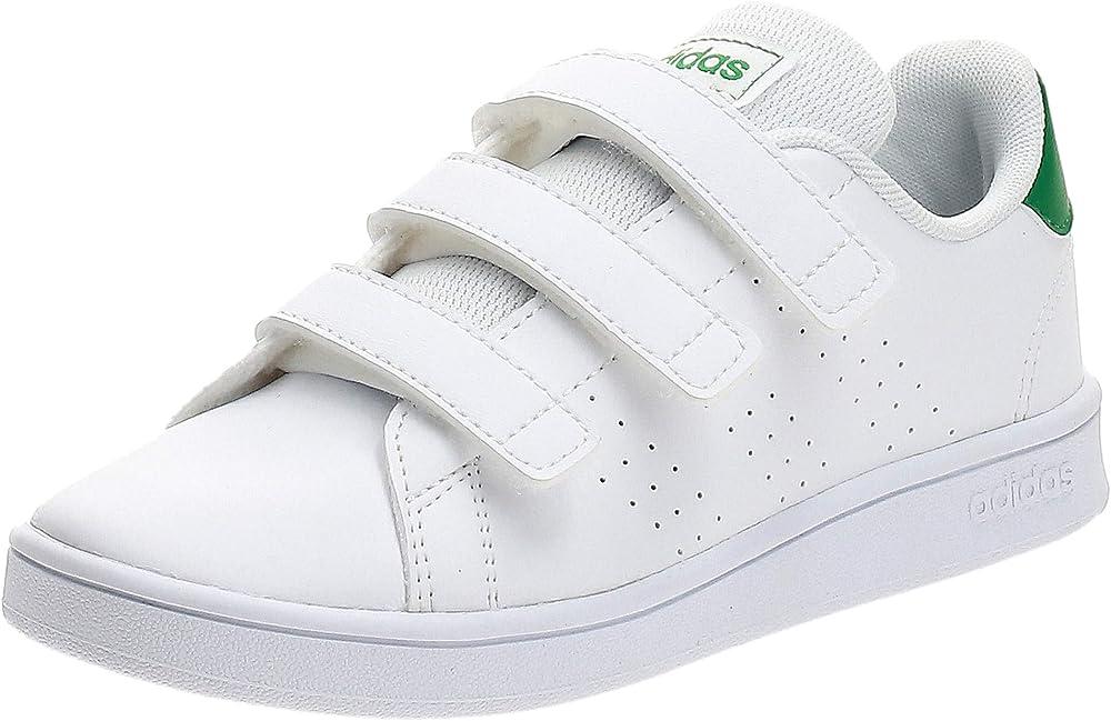 Adidas advantage c, scarpe da tennis unisex-bambini, sneakers in similpelle EPG26