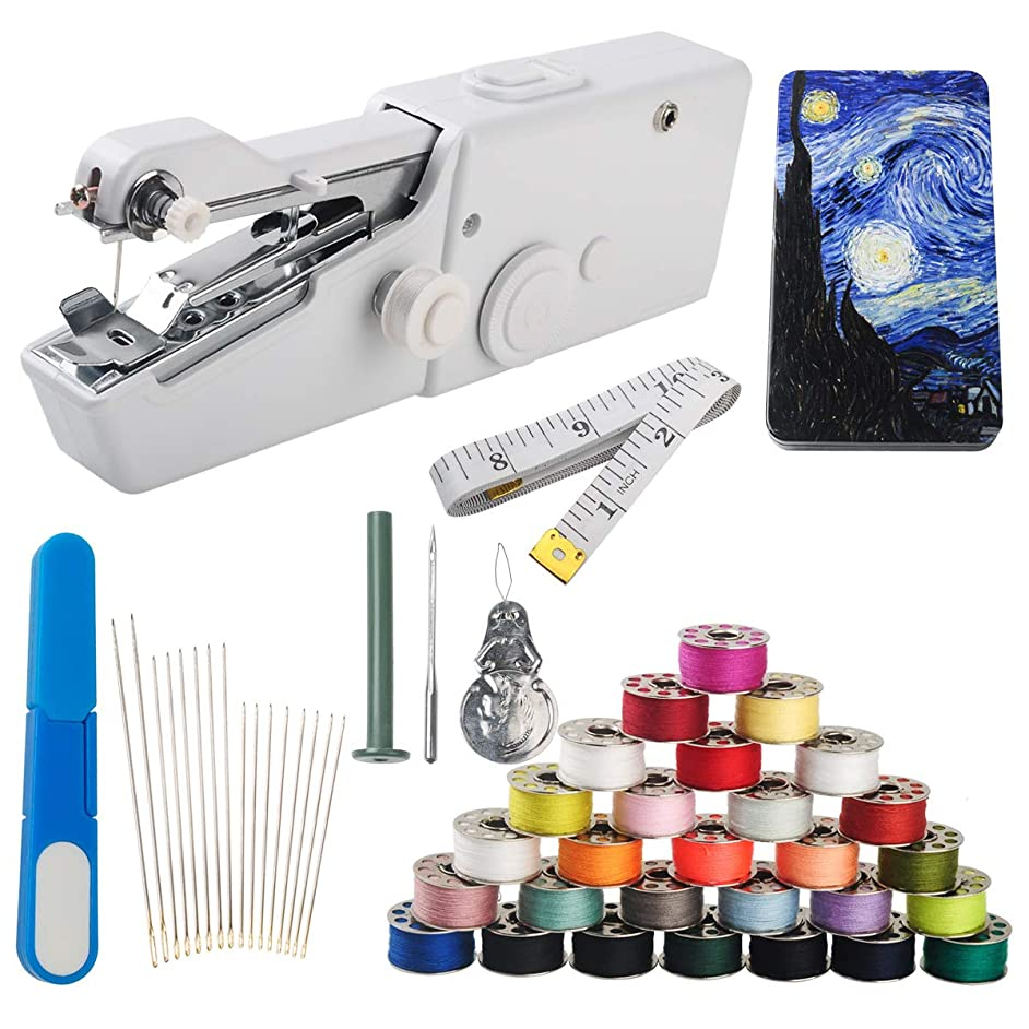 Handheld Sewing Machine and Threads Kit (Portable)