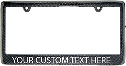 Real 100% Carbon Fiber License Plate Frame Tag Cover FF with Your Custom Text (Custom Text)