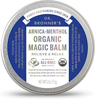 Dr. Bronner'S Arnica-Menthol Magic Balm. 2 Oz. Organic Massaging Balm for Sore Muscles and Respiratory Relief