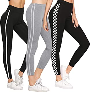 DTR FASHION Women's DTR FASHION Women's Side Stripped Jegging_Jogger pant For Women_Combo Pack of 3 (Black)