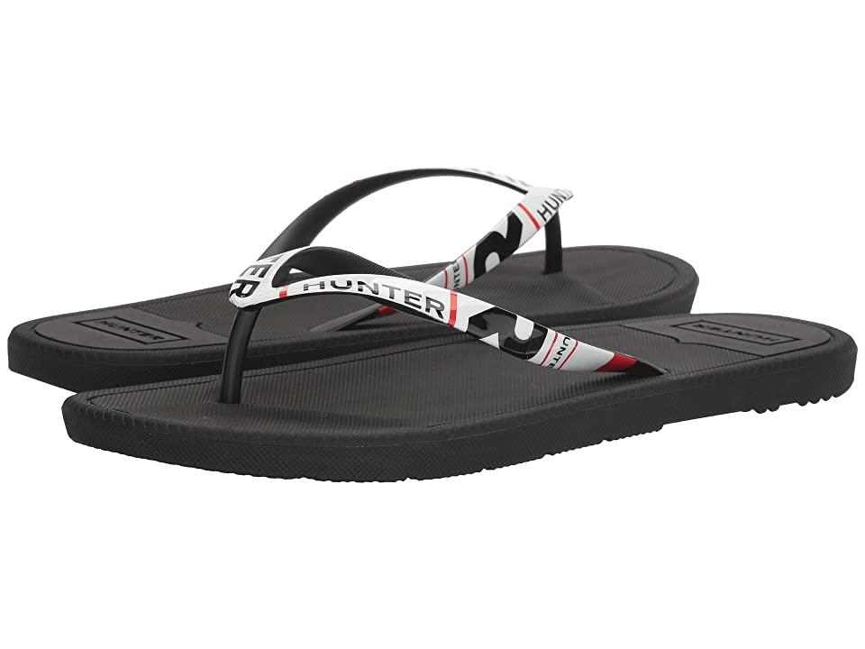 Hunter Original Exploded Logo Flip-Flop (Black) Men