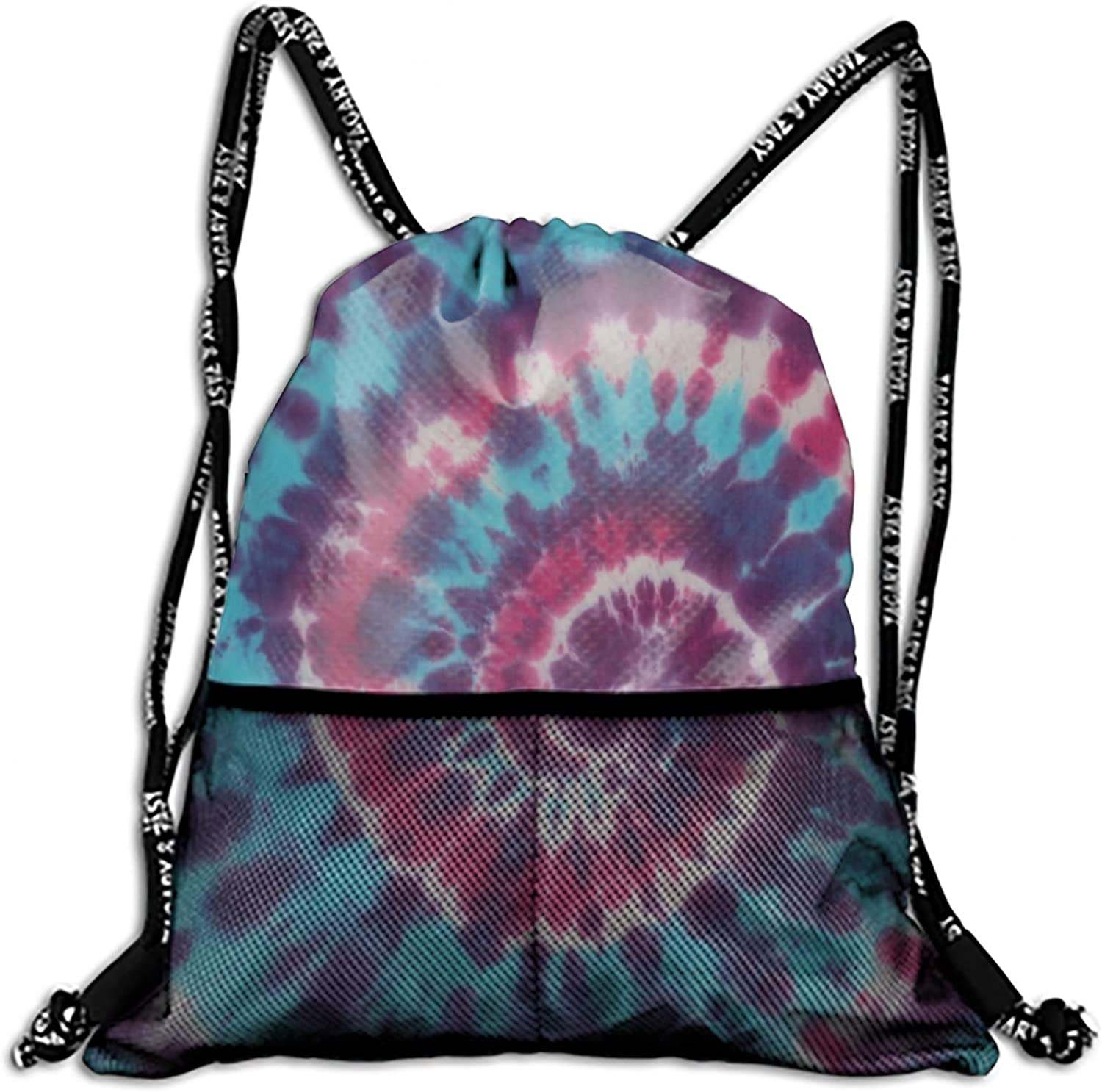 Tie Dye Drawstring Backpack String Bag Nice Gift for Boyfriend Girlfriend